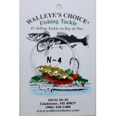 Walleye Spinner Rigs - Notched Willowleaf # 31/2 Blades